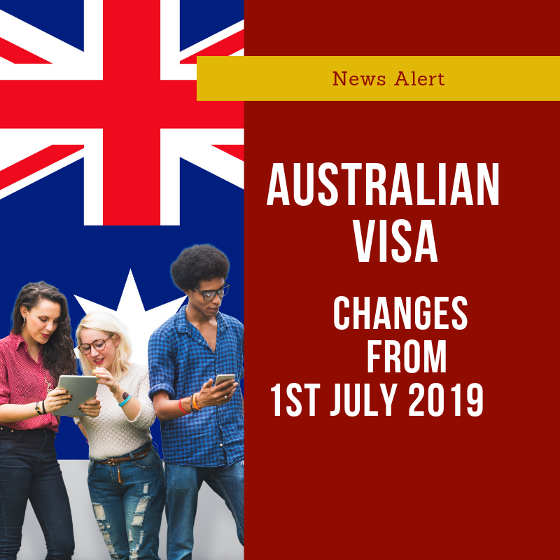 Australian Visa Changes 2019