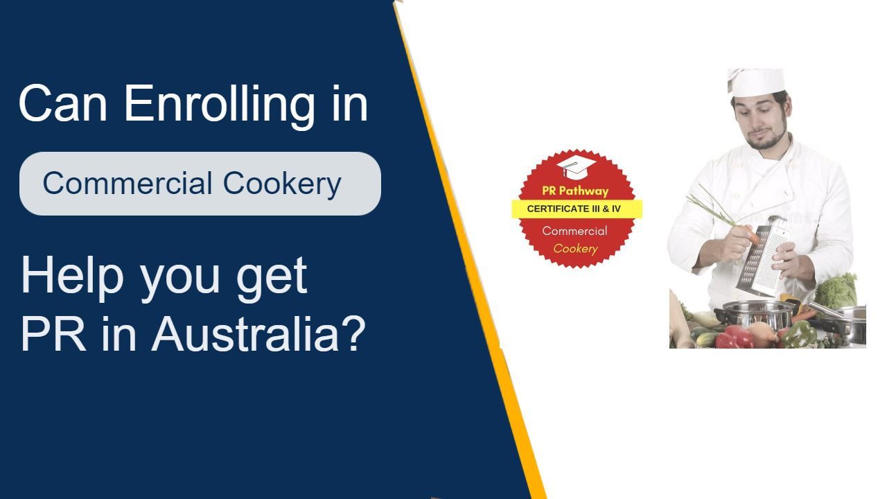commercial cookery to PR